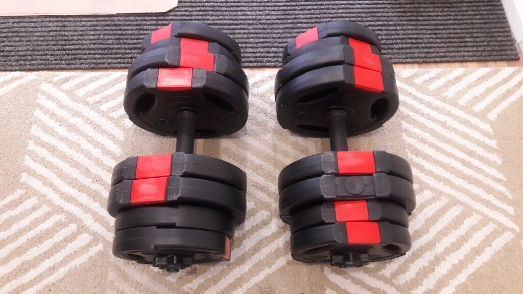 e57f6ded415 31KG BODY RIP TRI GRIP DUMBBELL WEIGHTS SET - 2 x 15.5KG ...