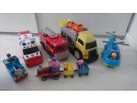 Bundle of boys cars included Peppa Pig, Thomas, Ambulance, Fire Station etc..