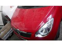 Vauxhall agilla breaking 11 plate in red