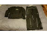 Lindstrands Outlast Motorcycle 2 piece jacket and trousers waterproof textile leathers