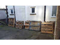 13 Pallets to give away for free