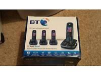 BT Aura Quad Digital Cordless Phone Set with Answer Phone
