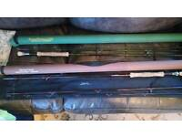 GREAT 10 Foot FLY RODS -2 for £45 !!!!!!! Two 10 Foot, 3 piece Fly Rods, Both With CorduraTubes