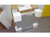 Brand New HIB Xenon 80 - 82cm Double door cabinet with vertical LED illumination and mirrored sides