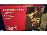 Nodding Reindeer Christmas Decoration Light