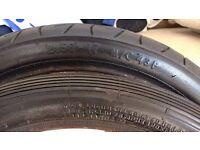 Honda cub tyres nearly new.