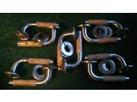 †*****reduced*****5 pairs reclaim stainless steel maple wood inserts handles **reduced***