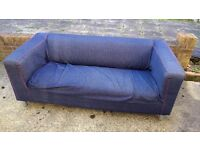 Free Sofa from IKEA like new with two covers get it ASAP