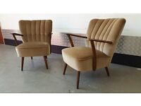 Pair of Vintage Retro Armchairs Design Great Condition Unique Loft Modern Cocktail Club Chairs