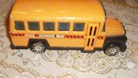 Buddy L  school bus, Corgi  Greyhound bus