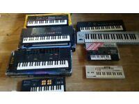 10 x keyboards yamaha vss 200 / pss 280 casio sk5 sampling / mt52 / pt30 / yamaha