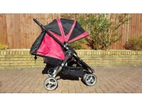 Baby jogger city mini double (including 2 foot muff and a rain cover)