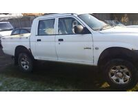 2003 Mitsubishi L-200, Life 2.5 TDGL 4WD, Pick Up, White, Double Cab, Diesel, Manual