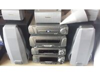 technics 5 disc dvd hifi system