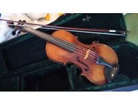 Full size c1880 Marknenkirchen (German) violin in good condition for its age.