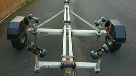 16ft galvanised brake back tilting boat trailer. New running gear.