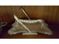 Handled Ornamented and Patterned Rectangular Platter in Good Condition