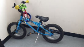"Apollo Kids Bike - 16"" with new Spiderman helmet and lock and bell and stands - east london"