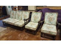 Ercol Old Colonial Sofa & 2 Arm Chairs In Great Condition