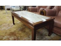 Marble & Solid Wood Coffee Table