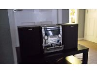 AIWA HIFI SYSTEM, 3 cd auto changer , tape player/recorder, radio tuner