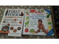 Weaning, First food and toddler food books