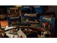 Playmobil RC Train set including Station platform, Shell Service Station and house