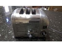 dualit toaster vintage stainless steel 3 slice polished matt kitchen equipment cooker dining