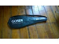 Gosen badminton racket. Only used a couple of times. In a good cover.