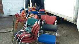 Joblot of diffrent stacking chairs