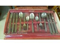 44 Piece Vintage Stainless Steel Cutlery Set Never Been Used