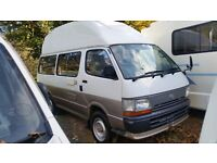 TOYOTA HIACE HIGH TOP 4 BERTH CAMPERVAN 4WD Auto Converted by Toyota from New