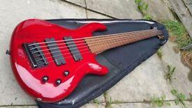 Dean Edge 6 (Fretless) Bass guitar