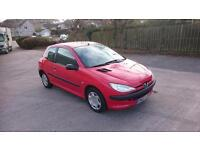 PEUGEOT 206 1.4 HDi Style 3dr (red) 2002