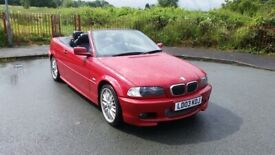 image for bmw 325i m sport convertible 2.5 petrol auto with full years mot    £2500 no offers