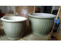 LOVELY SET OF 4 TOP QUALITY CERAMIC PLANT POTS