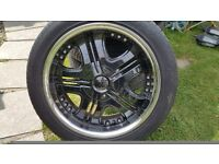 Chrysler 300c & will fit Dodge Magnum Wheels & Tyres (Collection only)