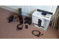 Boxed Xbox 360 elite with kinect