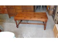 ducal pine rect.pine coffee table