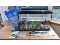 "Aqaurium 24"" Fish Tank (60L) and Equipment."