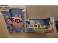 Peppa pig toys, still in boxes