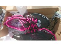 Skechers Sport Women's Skech Air RF Fashion Sneaker, Black/Hot Pink, 8 M US (UK 5) New in box.