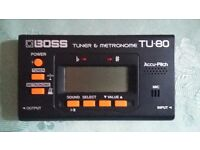 Boss guitar tuner and metronome