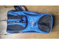 2 sets of snorkel and flippers, travel size