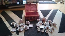 Childs china tea sets x2 in wicker bssket. Disney Princess & Teddy designs. Very good condition