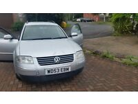 Vw passat estate, I year mot, central lock remote control key full service history