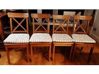 4 IKEA Ingolf dining room chairs £50