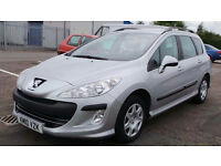 2010 10 PEUGEOT 308 S SW 1.6 HDI ESTATE MOT 04/17(CHEAPER PART EX WELCOME)FREE DRIVEAWAY INSURANCE