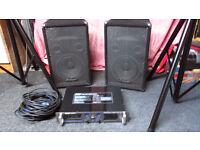 prosound ps10 speakers/stands bag/amplifier