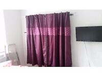 Curtains and large cushion covers Next Plum